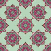 Bezešvé vzor s květinovými ornamenty — Stock vektor