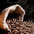 Smell of roasted coffee. — Stock Photo