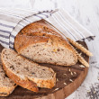 Delicious bread background. — Stock Photo