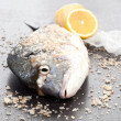 Stock Photo: Sebream. Delicious seafood.