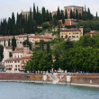 Castle San pietro, Verona, Italy — Stock Photo