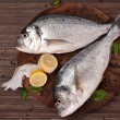 Delicious fish background in brown. — Stock Photo