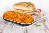 Dal with naan. — Stock Photo