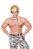 American football player isolated. — Stock Photo