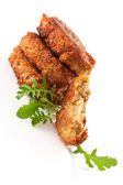 豪华素食汉堡背景。沙拉三明治 — 图库照片
