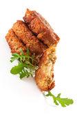 Lyxiga veggie burger bakgrund. falafel — Stockfoto