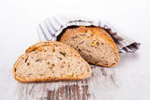 Bright bread still life, french country style. — Stock Photo