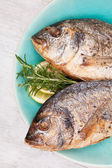 Grilled fish background. — Stock Photo