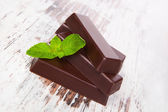 Mint chocolate. — Stock Photo