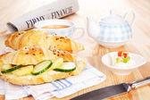 Business breakfast. — Stock Photo