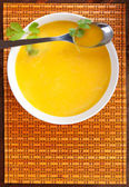 Carrot soup. — Stock Photo
