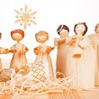 Christmas crib. Light wooden concept. — Stock Photo