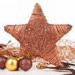 Stock Photo: Christmas star decor.