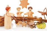 Christmas crib. The birth of Jesus. — Stock Photo