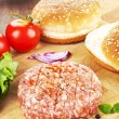 Hamburger still life. — Stock Photo