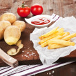 French fries still life. — Stock Photo