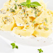 Tortellini with cream sauce. — Stock Photo