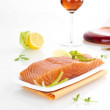 Exquisite salmon steak. — Stock Photo