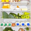Full fridge. Healthy fitness concept. — Stock Photo