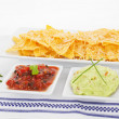 Nachos background. — Stock Photo