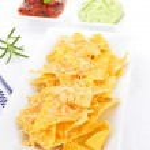 Delicious nachos. — Stock Photo