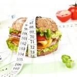 sandwich con cinta métrica — Foto de Stock