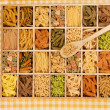 Noodles. Pasta. Tagliatelle. — Stock Photo