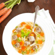 Luxurious homemade vegetable soup. — Stock Photo