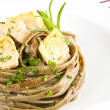 Exquisite dining. Pastwith artichoke. — Stock Photo #27199075
