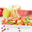 Stock Photo: Delicious tropical fruit salad.