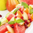 Fruit salad close up. — Stock Photo
