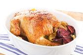 Golden chicken. — Stock Photo