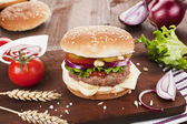 Country style hamburger. — Stock Photo
