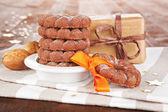 Christmas cookies background. — Stock Photo