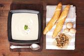 Champignon cream soup. — Stock Photo