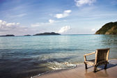 Chair on beach — Stock Photo