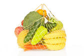 Fruits and vegetable bag isolated. — Stock Photo