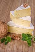 Camembert pieces. — Stock Photo