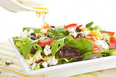 Fresh goat cheese salad. — Stock Photo