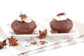 Luxurious chocolate muffins. — Stock Photo