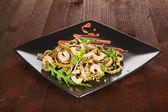 Delicious seafood pasta. — Stock Photo