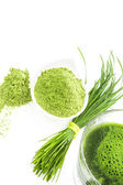 Green natural food supplements. — Stock Photo