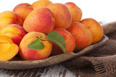 Delicious apricot background. — Stock Photo