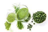 Green superfood. — Stock Photo