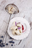 Sweet fruit dumplings. — Stock Photo