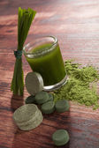 Green food supplements. — Stock Photo