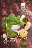 Basil pesto. — Stock Photo