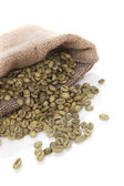 Chicchi di caffè verde. — Foto Stock