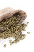 Grains de café vert. — Photo