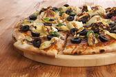Pizza-detail. — Stockfoto